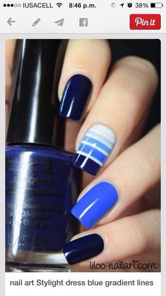 45 Must try Nagellack Designs und Ideen 2017 - Nageldesign & Nail Art - - Fancy Nails, Diy Nails, Pretty Nails, Nail Polish Designs, Nail Art Designs, Nails Design, French Nail Designs, Polish Nails, Nail Polishes