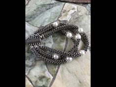 (1) Cubic Right Angle Weave Moonlight Bracelet - YouTube