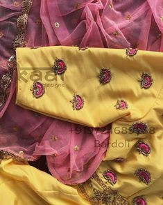 Unstitched Maggam work blouse material (customised colour and fabric) whatsapp 9133502232 Hand Work Blouse Design, Simple Blouse Designs, Stylish Blouse Design, Saree Blouse Neck Designs, Bridal Blouse Designs, Kurti Embroidery Design, Beaded Embroidery, Embroidery Stitches, Maggam Work Designs