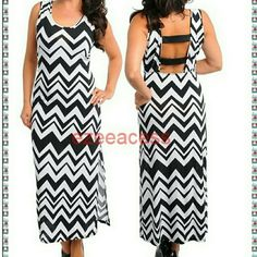 "New plus size chevron maxi dress slit openback Look stunning in this Gorgeous sexy chevron /zig zag maxi summer sun dress.  **LIGHTWEIGHT  stretchy fabric . Trendy Chevron /zigzag pattern backless style with (elastic) strap back 19-20"" Slit at one side . versatile use them as formal/causal wear/club wear or simply a summer/sun/beach dress.  KINDLY CHECK MEASUREMENTS before picking your size to ensure the right fit .Thanks  Total Length:53"" -----------------SLIT :19-20"" (IS JUST At one side)…"