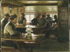 Peder Severin Krøyer, Interior of a Tavern, 1886, Oil on canvas, 85,7 x 114,3 cm, Philadelphia Museum of Art