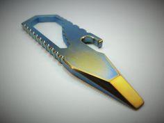 Edc Multi-tool Bar Titanium / Petrol por EdcApparatus en Etsy