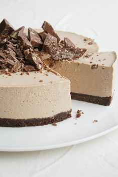 Our mouths are salivating over this to die for Toblerone Cheesecake Slice by jodi hay.