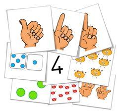 Cycle 1 - Jeux mathématiques - Les cartes nombres ! Numbers Kindergarten, Math Numbers, Kindergarten Activities, Montessori Math, Homeschool Math, Act Math, Cycle 1, Daily Math, Simple Math