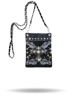 Rhinestone Cross with Embroidered Accents - This hip bag is a real  standout. Has additional 42523dbd8bf2d