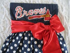 diamonds are a girls best friends braves | Game Day Dress, made to Order, using YOUR tee shirt mailed to me