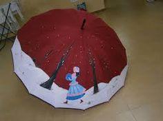 Resultado de imagen de paraguas originales pintados a mano
