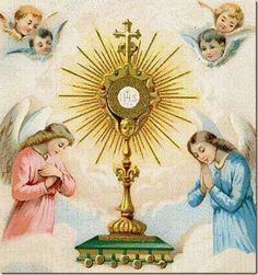 Would you like to spend some special time with our Lord? Visit Him in the Blessed Sacrament on the altar or in the tabernacle. Savor what Bishop Sheen used to call his Hour of Power. Catholic Prayers, Catholic Sacraments, Catholic Saints, Roman Catholic, Corpus Christi, Vintage Holy Cards, Religion Catolica, Blessed Mother Mary, Prayer Cards