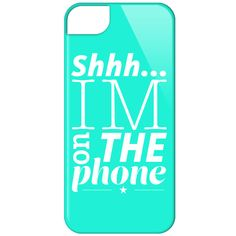 "I'm on the phone"" phone cover"