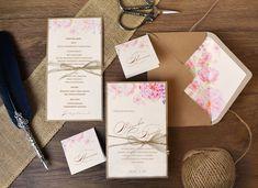 A LEGÚJABB ESKÜVŐI VINTAGE SZETT 🌺🌱🌸 Ez a gyönyörű esküvői meghívó két féle papírból tevődik össze, melyet romantikus rózsa és cseresznyevirág motívumok díszítenek. 😊 Az esküvői meghívót és a menü kártyát a kézzel kötött madzag masni teszi egyedivé. 😊  #eskuvo #eskuvoimeghivok