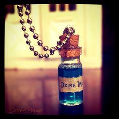 Alice in Wonderland - Drink Me Bottleby ~Crazy4Polymer    i read the book!
