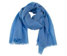 Blue cashmere scarf. Pure pashmina scarf.   100% natural. November sale by MyKolachi on Etsy