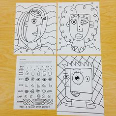 """Of course I had to make my own """"roll-a-Picasso"""" haha. #elementaryart #picasso"""