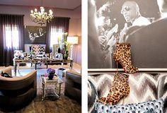 celebrity home khloe kardashian home office room walk in closet glamorous Kardashians House, Silver Bedroom Decor, Goth Home Decor, Celebrity Houses, White Rooms, Inspired Homes, House Rooms, Home Office, Interior Design