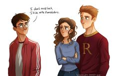 HP Trio by http://lulusketches.tumblr.com/