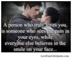 So true. But that person also has a way of bringing out your true hidden smile.