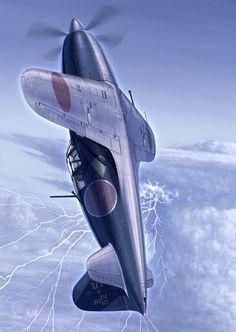 'Thunderbolt'  by hylajaponica (Mitsubishi J2M Raiden 'Jack')