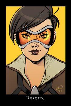 Tracer.  Overwatch portrait series in progress here.