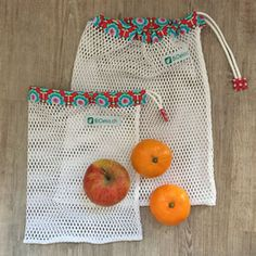 New fruit shop vegetables ideas Fabric Bags, Mesh Fabric, Diy Vegetable Bags, Easy Crafts To Sell, Net Bag, Produce Bags, Sewing Class, Reusable Bags, Sewing For Beginners