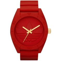 adidas Watch, Red Silicone Strap 50mm ADH2714 (315 BRL) ❤ liked on Polyvore featuring jewelry, watches, accessories, unisex jewelry, adidas, wrap watches, plastic watches and water resistant watches