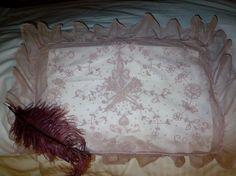 Antique French Tambour Lace Boudoir Pillow or Wedding by classy10, $125.75