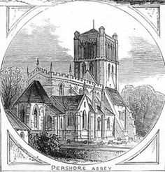 St Andrews Pershore Abbey from Illustrated London News 1875