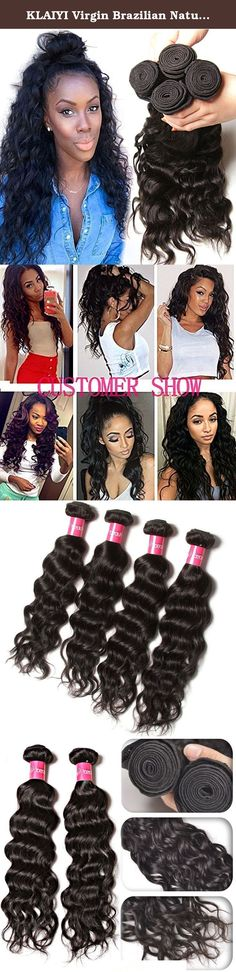 "KLAIYI Virgin Brazilian Natural Wave Curly Hair Bundles Human Hair Weft Weave Extensions 95-100g/ bundle pack of 3 Natural Color (14 16 18). Hair weft: machine double weft . Hair Style: natural wave hair Hair weave size:8"" 10"" 12"" 16""18"" 20"" 22"" 24"" 26"" Related Style:body wave, natural straight , natural wave, loose wave,deep wave Related products: Peruvian ,Malaysian, Indian ,Mongolian, Russian virgin hair . 7days no satisfied we can return ,Once you brought the hair, and you want to…"