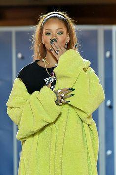 Rihanna walks the runway at FentyXPuma fashion show