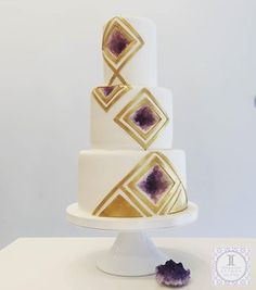 geode cake created for @goodhousekeeping
