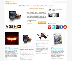 You've created a new site, where you can buy interesting products are now published in our blog full of great fun products with the slogan Gadgets and Geeky Products www.aboutamazon.net service. So what you'll find on this site, mainly promoting Amazon.com products you can think of the site also interesting, interesting, fun, toys, masks, jokes, new technology products, iphone accessories, small home appliances, and much more. Let's take a look at the site immediately.
