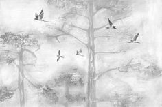 Painting a beautiful image of the outdoors, our Gray Painted Tree Tops Wall Mural breathes new life into your home. This wall mural features swallows gliding over treetops on a misty morning, creating a peaceful scene for your living room or study area. The Gray Painted Tree Tops Wall Mural works best when partnered with... Read more »