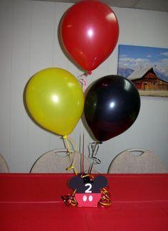 Mickey Mouse Head Balloon Centerpieces