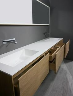 The simplest tricks can change your life: Dark counters made of Carrara marble … Most Simple Tricks Can Change Your Life: Dark Counter Tops Carrara Marble counter tops diy bathroom. Diy Bathroom Paint, Bathroom Countertops, Bathroom Furniture, Bathroom Interior, Modern Bathroom, Wood Furniture, Counter Top Sink Bathroom, Bathroom Pink, Bathroom Storage