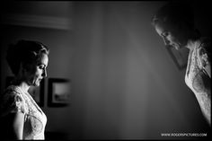 A quiet moment for the Bride before leaving for the wedding
