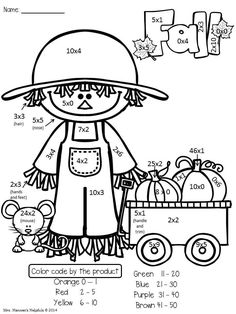 17677b84e89f43cd0e9b37b6be53d6d4 multiplication worksheets math intervention have fun practicing basic multiplication facts with these fall on theme and main idea worksheet