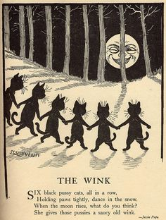 The Wink {Louis Wain}