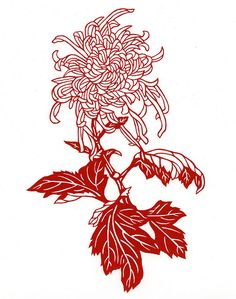 chrysanthemum paper-cut