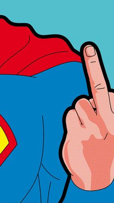 Superman Finger iPhone 6 / 6 Plus wallpaper