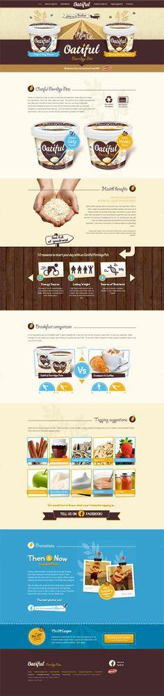 Unique Web Design on the Internet, Oatiful #webdesign #websitedesign #website #design http://www.pinterest.com/aldenchong/