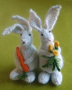 tons of Easter/spring inspired crafts including knitted bunnies and a cute bunny costume  #thepurlbee