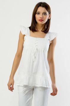 White #Cotton #Top