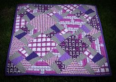 Purple Baby Quilt, Front | by staarlight