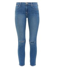Frame Denim Le High Paloma high-rise skinny jeans ($83) ❤ liked on Polyvore featuring jeans, pants, bottoms, calças, indigo, high-waisted jeans, high rise skinny jeans, high waisted skinny jeans, super skinny jeans and high waisted jeans
