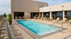 Rooftop pool at the Hilton Shreveport - Louisiana