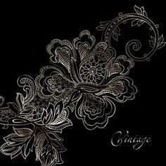 lacy designs: abstract vintage elegant vector background with a textile ornament
