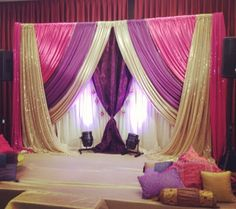 Backdrop for an Indian wedding event