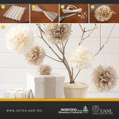 Decora tu hogar con estas flores artificiales.