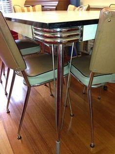 34 best vintage chrome table and chairs images vintage kitchen rh pinterest com