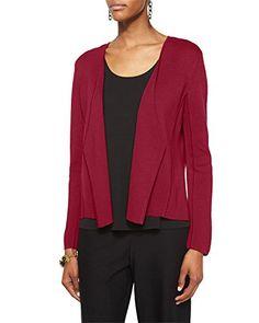 Eileen Fisher Silk Organic Cotton Interlock Angled Jacket, Plus Size Eileen Fisher, Organic Cotton, Luxury Fashion, Jackets For Women, Plus Size, Silk, Long Sleeve, Sleeves, Model