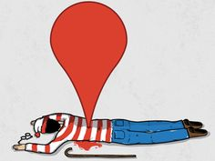 Ha! There's Waldo! • by Toni Garcia via dribbble.com #funny #maps